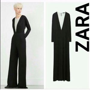 Zara Black/White Jumpsuit!